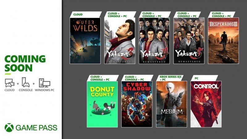 Xbox Game Pass gennaio 2021