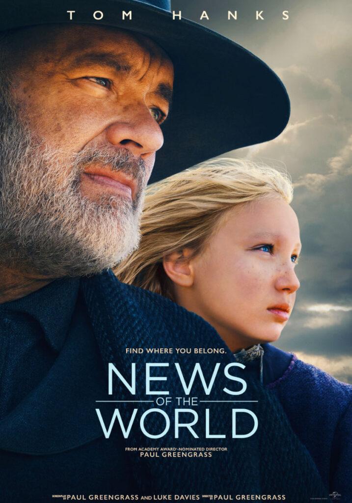 News of the World Notizie dal Mondo  Tom Hanks Helena Zengel Netflix