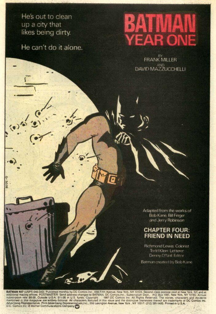 the batman year one mazzucchelli Lee Bermejo Matt Reeves Robert Pattinson DC
