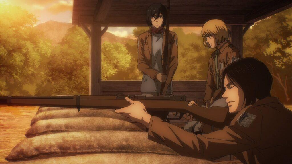 Attacco dei giganti Eren Armin
