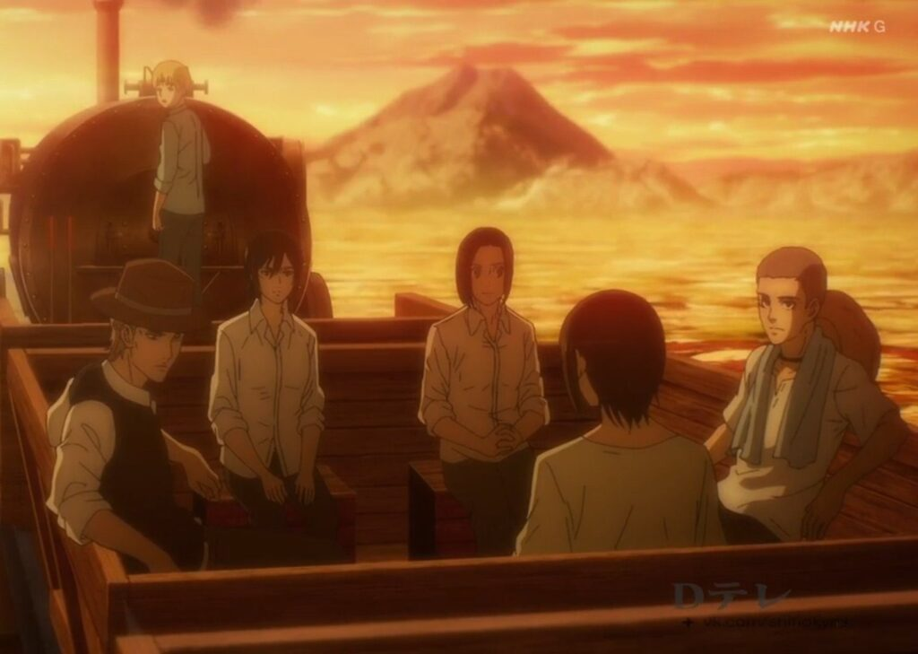 Attacco dei giganti Mikasa Eren Armin