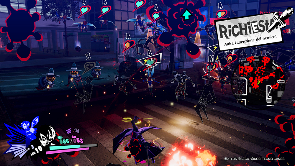 Persona 5 Strikers screen Prigione Shibuya