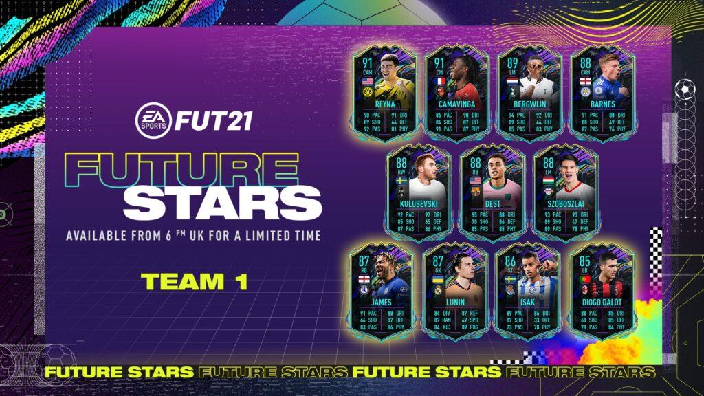 FIFA 21 Ultimate Team Future Stars Team 1 FUT