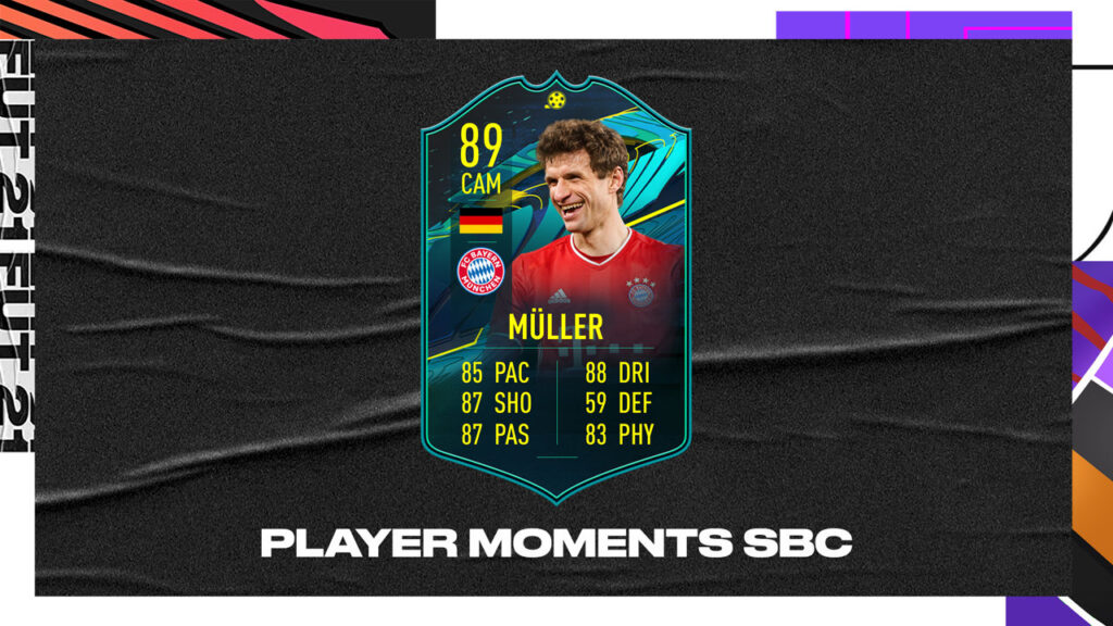 Fifa 21 Ultimate Team FUT Muller Player Moments SBC