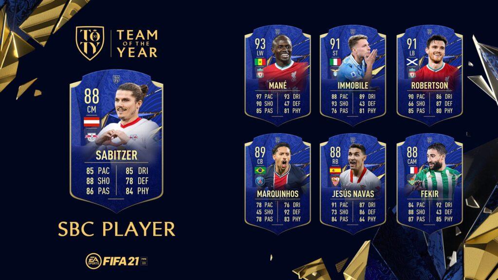 Fifa 21 Ultimate Team - Sabitzer TOTY SBC - FUT