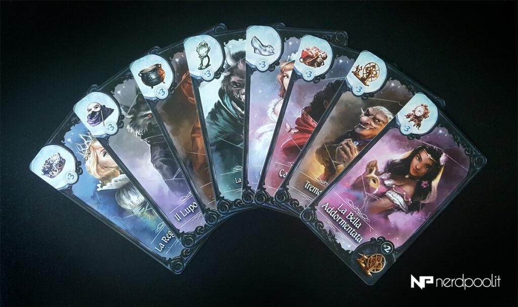 Le carte personaggio di Grimm Masquerade