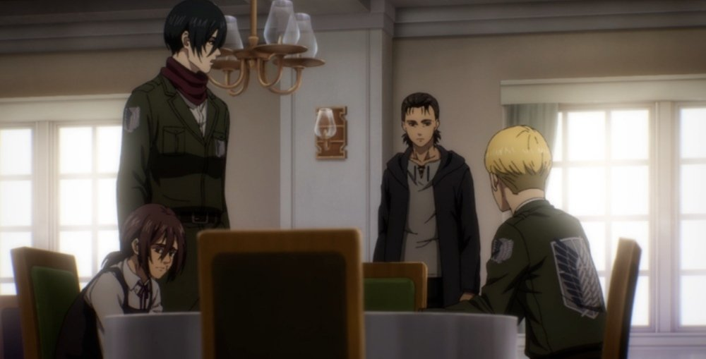 Attacco dei giganti Eren Mikasa  Armin