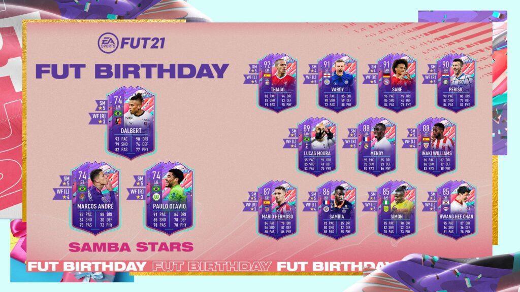 FIFA 21 Samba Stars FUT Birthday Obiettivi - Ultimate Team