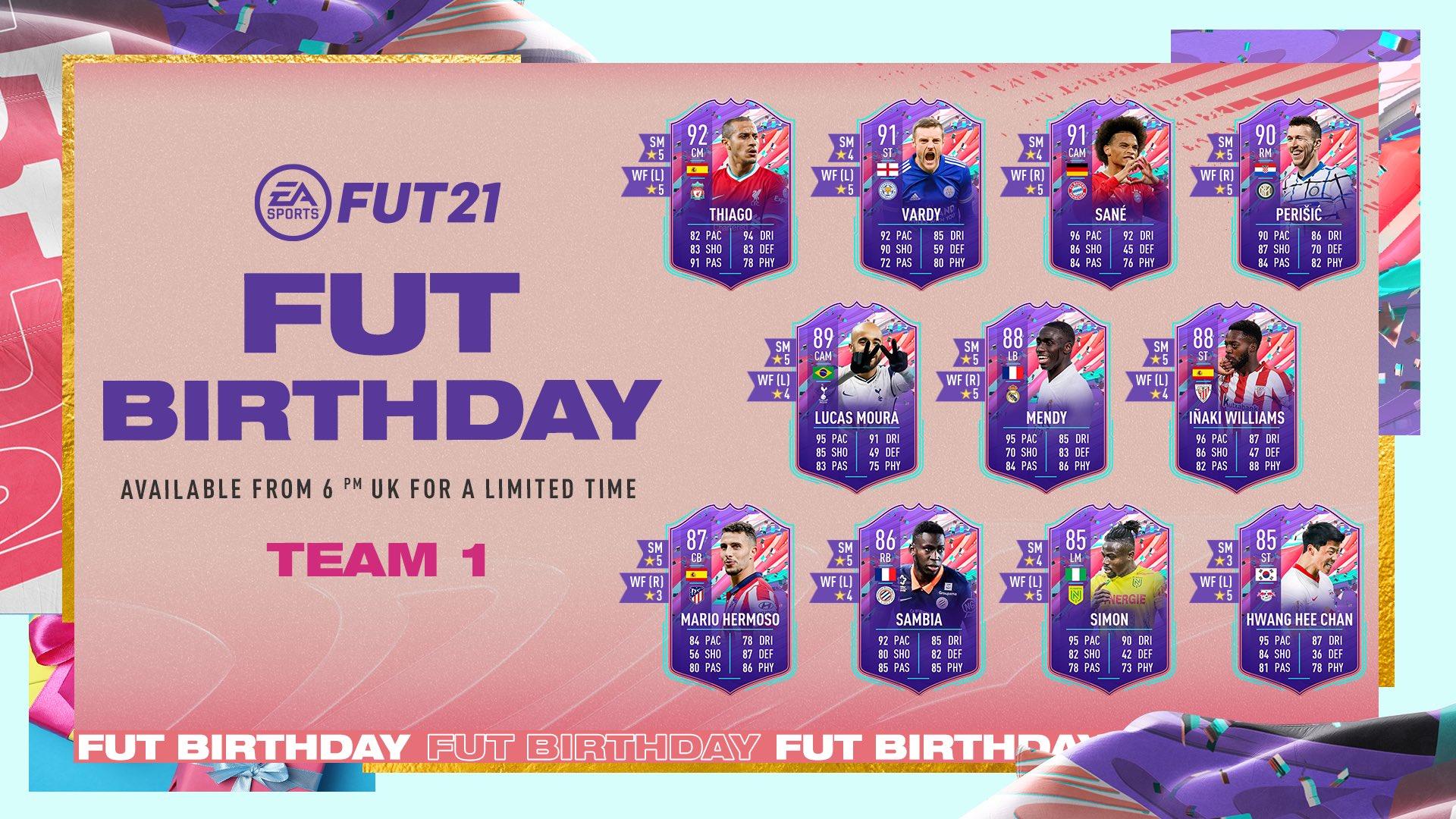 FIFA 21 Ultimate Team FUT Birthday - Compleanno FUT - Team 1