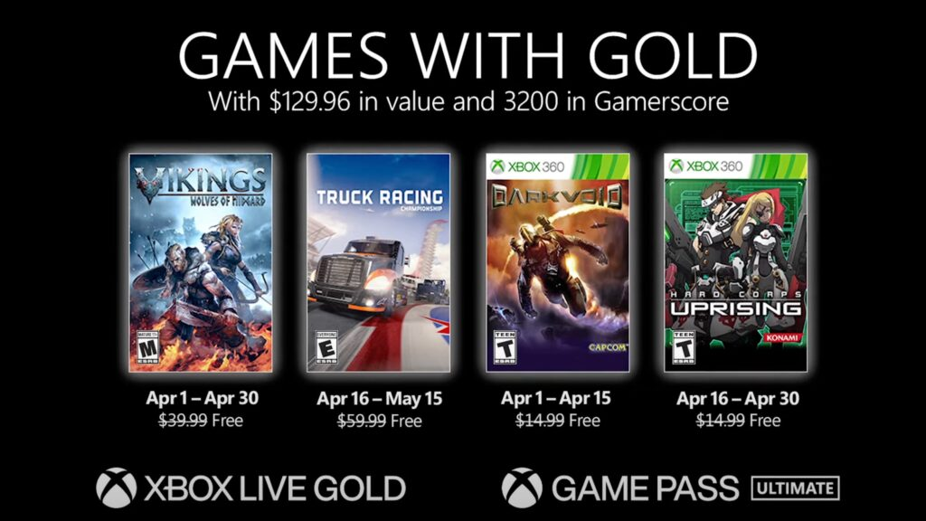 Games with Gold April