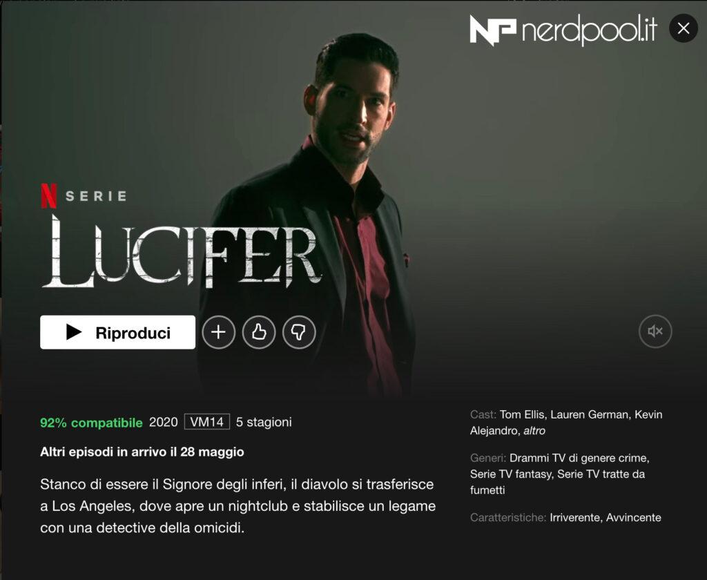 Netflix - Lucifer 5 parte 2 dal 28 maggio?