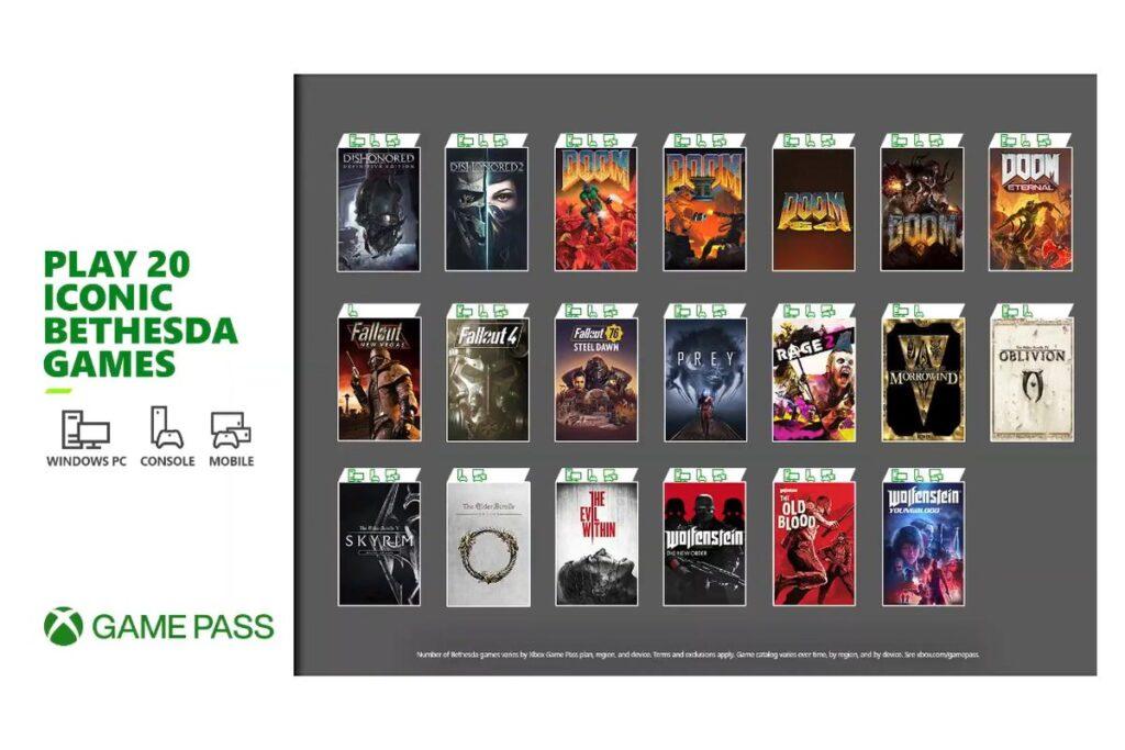 Xbox Game Pass Microsoft Bethesda