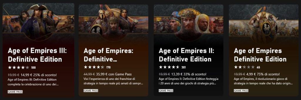 Age of Empires Game Pass