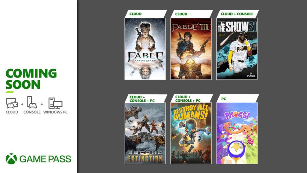 Xbox Game Pass in arrivo moltissimi titoli.