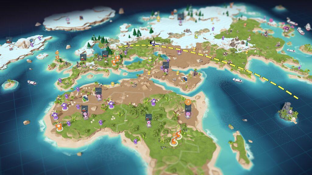 Evil Genius 2 mappa globale