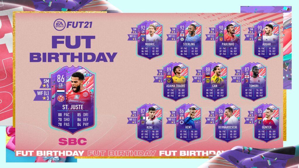 FIFA 21 Ultimate Team - St. Juste FUT Birthday SBC