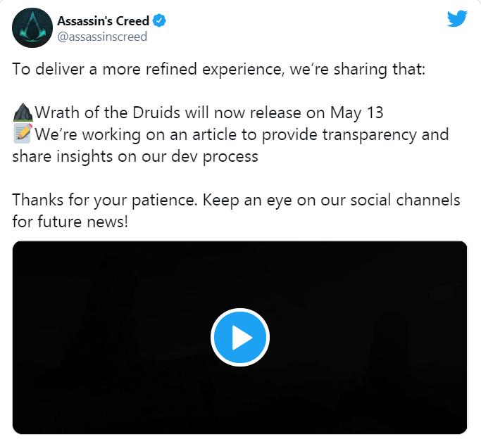 Assassin's Creed Valhalla il DLC L'ira dei Druidi è rinviato