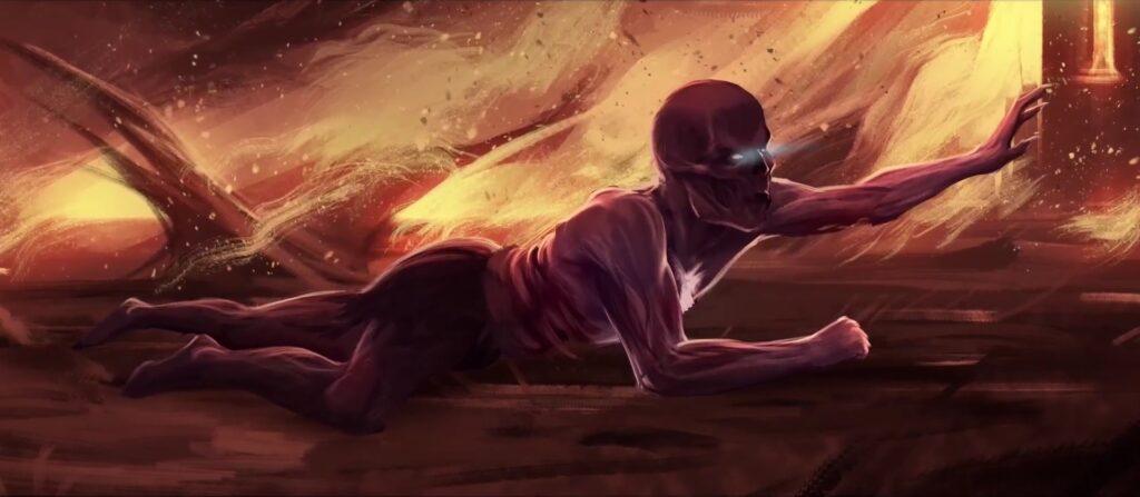 Demon Skin cutscene iniziale