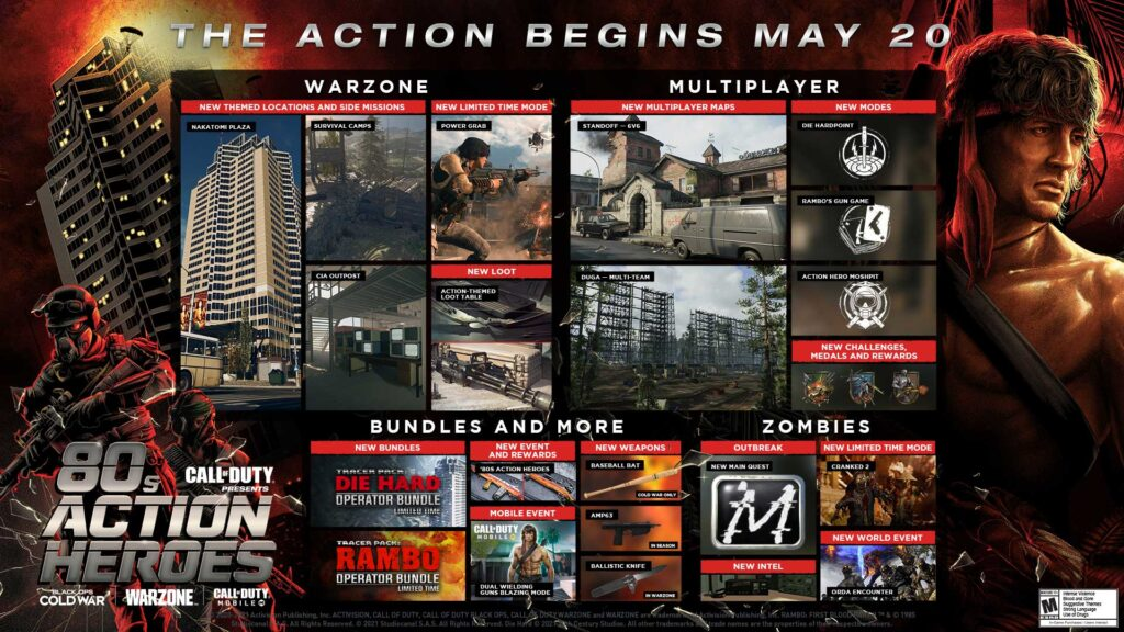 Call of Duty 80s Action Heroes