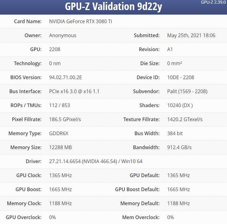 Nvidia RTX 3080Ti