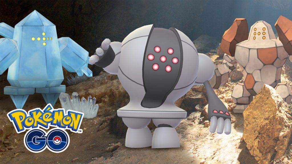Pokémon Regirock, Regice e Registeel