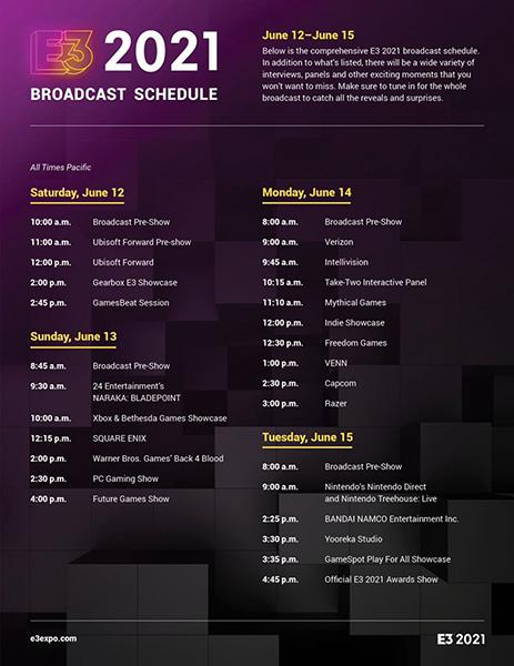 Programma E3 2021