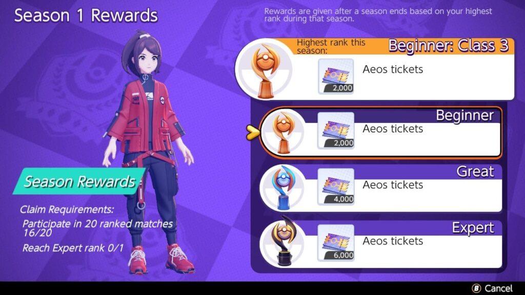 Pokemon Unite partite classificate ranghi ricompense