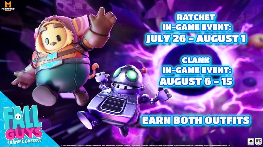 Fall Guys Fall Guys Ultimate Knockout Ratchet & Clank Ratchet e Clank