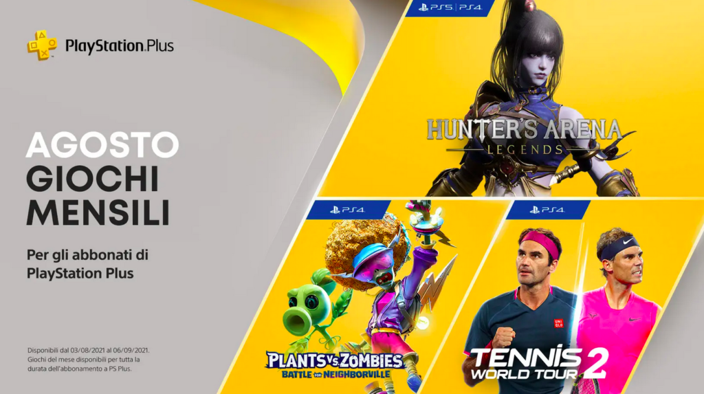 PlayStation PS Plus Agosto 2021 Giochi Gratis