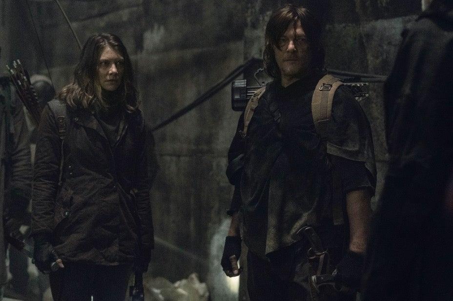 Maggie e Daryl in The Walking Dead 11x01