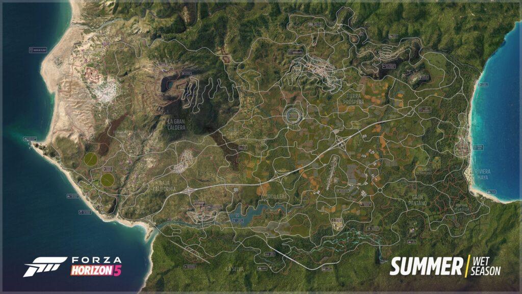 Forza Horizon 5 mappa