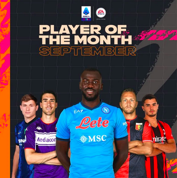 Koulibaly POTM Player of the month Serie A - FIFA 22 Ultimate Team FUT